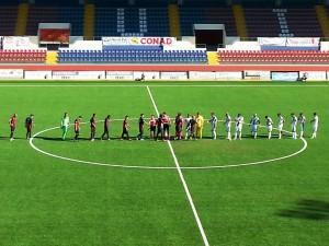 L'Aquila-Castelfidardo: le squadre in campo